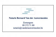 Notaris Bernard Van der Auwermeulen